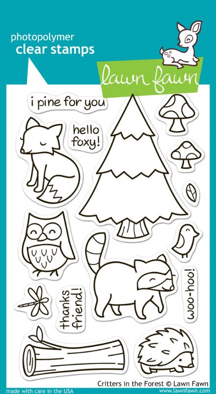 LF0314 CRITTERS IN THE FOREST - CLEAR STAMPS BY LAWN FAWN